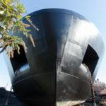 Eine Binnenschiffswerft