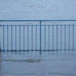 Sturmflut an der Weser Februar 2020